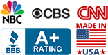 As Publicized on NBC, CBS, CNN. BBB A+ Rating